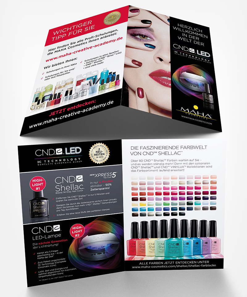 cnd led 3c technology folder maha cosmetics maniküre nagelmodellage