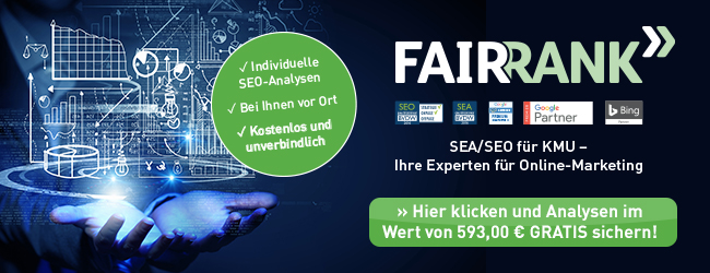 newsletter fairrank webseiten-analyse gratis