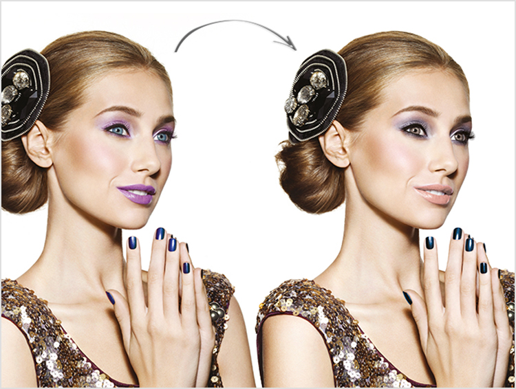 retouch beauty model woman face nails makeup