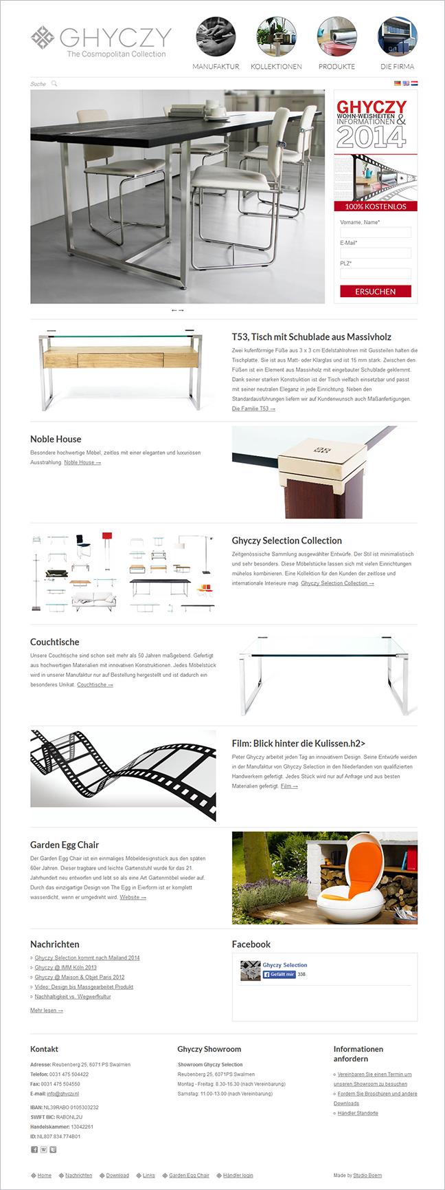 ghyczy design furniture webdesign